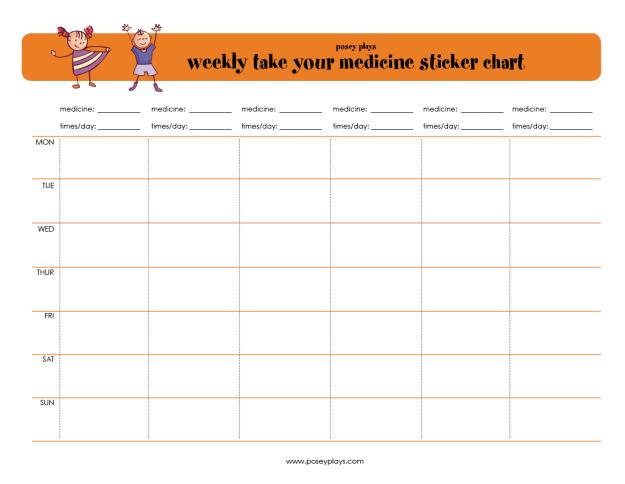 printable medication chart